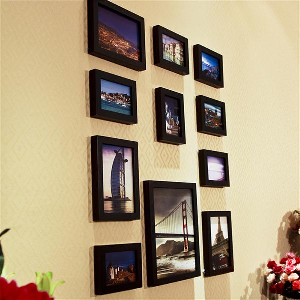Bộ 11 khung ảnh treo tường KAD1101 chỉ dùng khung màu đen