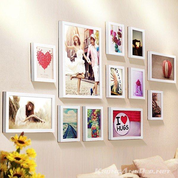 Bộ 12 khung ảnh treo tường phòng cưới KAD1203