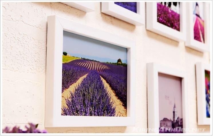Cận cảnh bộ 20 khung ảnh treo tường phòng ngủ KAD2001