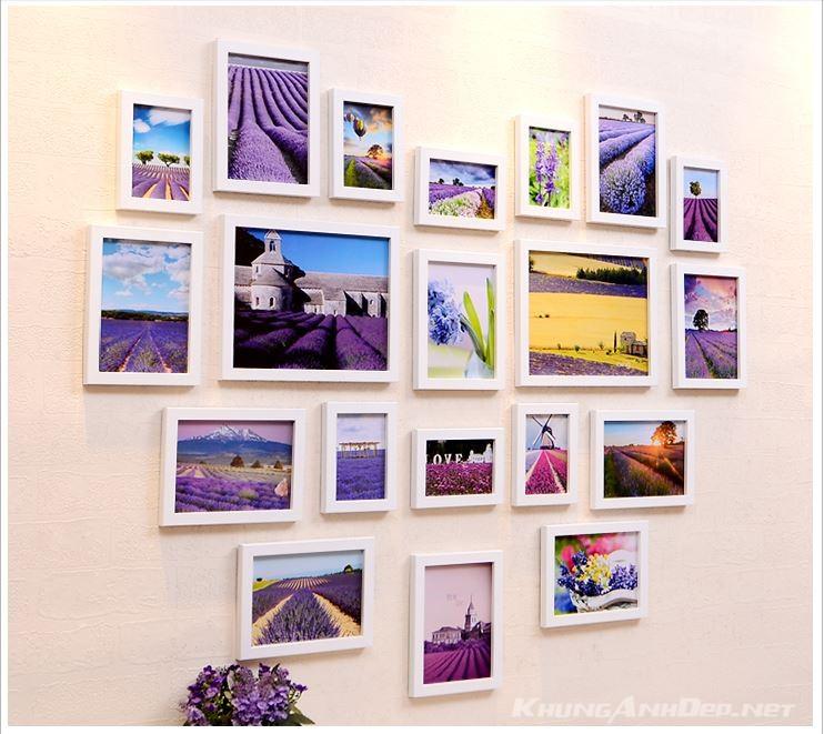 Bộ 20 khung ảnh treo tường phòng ngủ KAD2001 lãng mạn