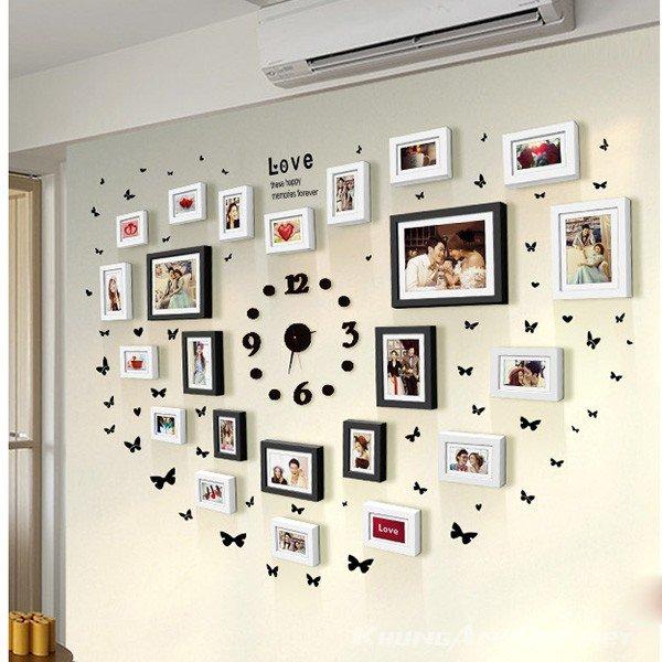 Bộ 23 khung ảnh treo tường phòng cưới KAD2301