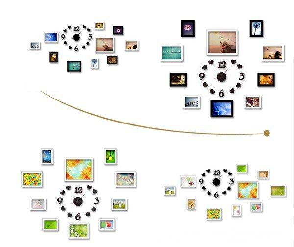 Mô tả 2 cách bố trí của bộ 10 khung ảnh KAD1004