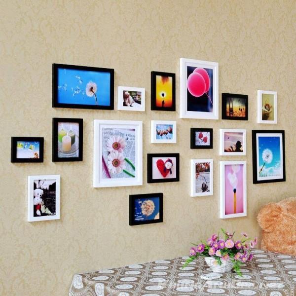 Hoặc cũng là một ý tưởng tuyệt vời khi trang trí cho bức tường rộng rãi phí trong phòng khách hoặc phòng bếp của gia đình