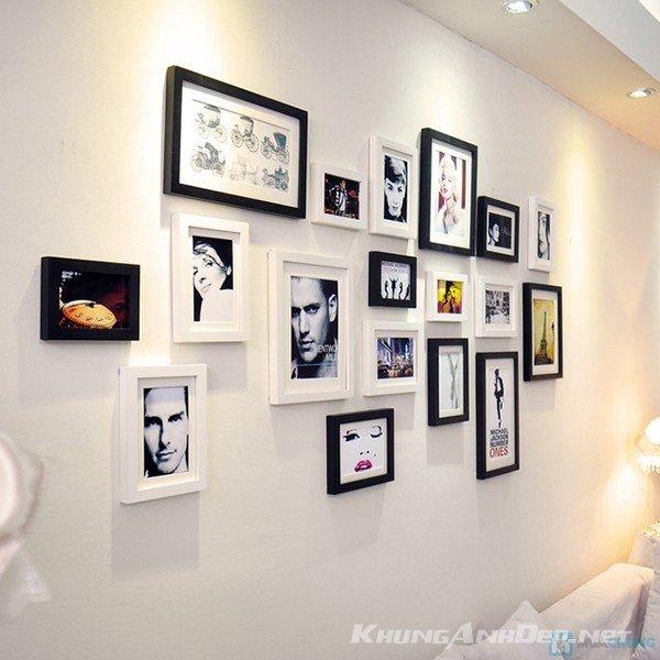 Bộ 18 khung ảnh treo tường quán Cafe, Trà sữa KAD1801