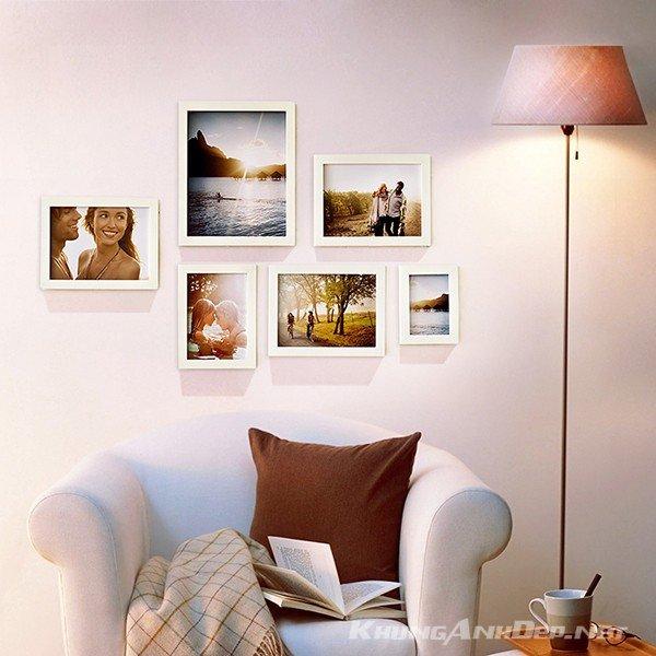 Bộ 6 khung ảnh treo tường phòng khách KAD603 phù hợp những phòng khách nhỏ