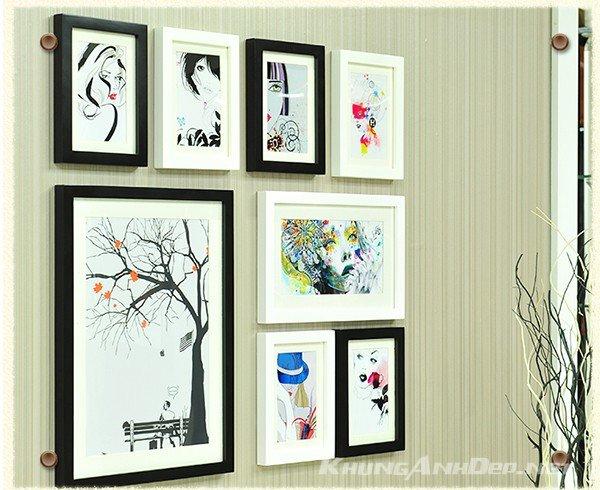 Bộ 8 khung ảnh treo tường phòng khách KAD801