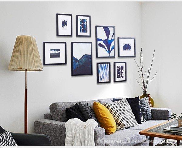Phù hợp với khoảng tường phí sau Sofa, tạo không gian phòng khách hiện đại