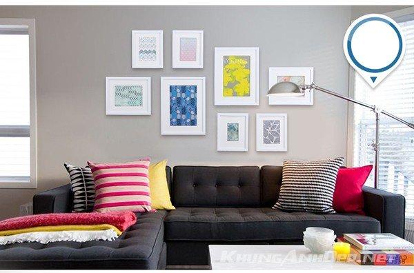 Bộ khung ảnh treo tường phòng khách hiện đại