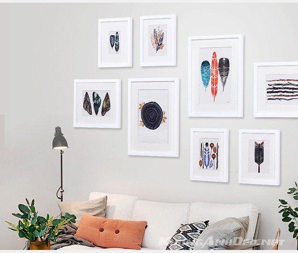 Bộ 8 khung ảnh KAD802 hoàn toàn có thể được sử dụng để trang trí cho văn phòng của bạn