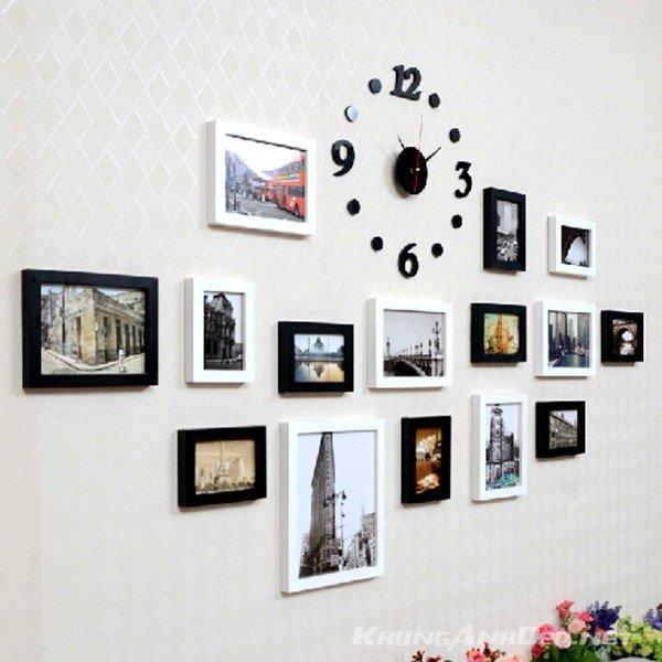 Bộ 15 khung ảnh treo tường phòng ngủ, phòng khách KAD1504