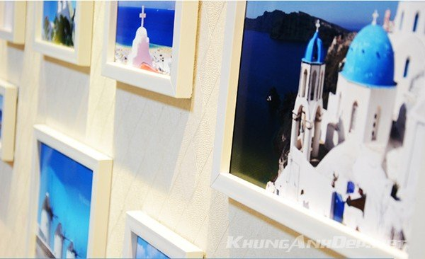 Cận cảnh bộ khung ảnh KAD1504 toàn viền trắng