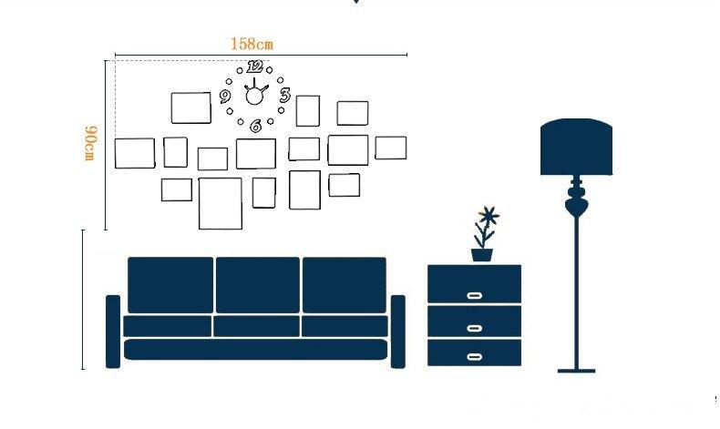 Sơ đồ tham khảo cách bố trí bộ khung ảnh treo tường KAD1504