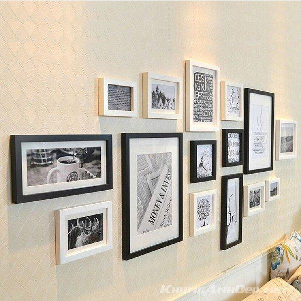 Bộ 15 khung ảnh treo tường phòng khách, quán Cafe KAD1503