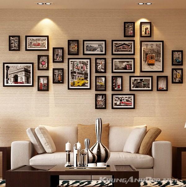 Bộ 24 khung ảnh treo tường phòng khách KAD2401