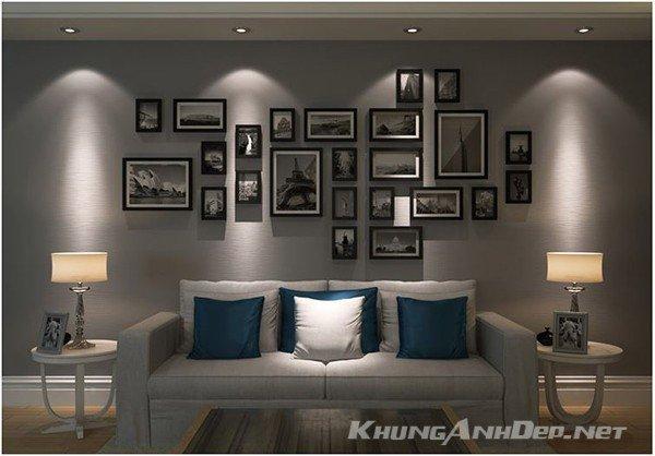 Sự lựa chọn hoàn hảo cho việc trang trí bức tường trống của phòng khách