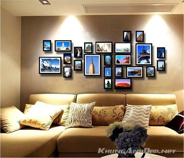 Bộ 24 khung ảnh bố trí theo phong cách tự do