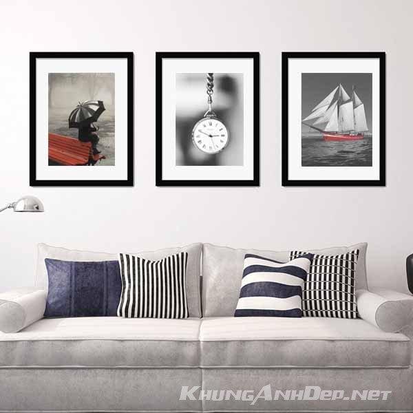 Bộ 3 khung ảnh treo tường phòng khách, phòng ngủ KAD301