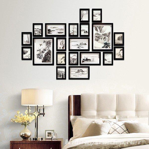 Bộ khung ảnh phù hợp với những phòng khách có không gian lớn hoặc không gian quán Cafe
