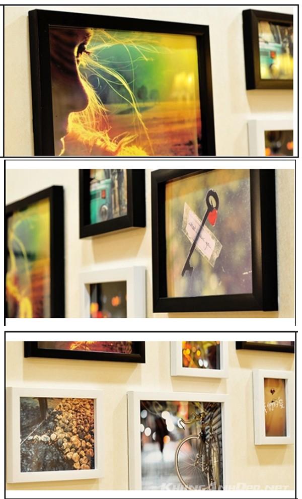 Một vài hình ảnh của bộ 10 khung ảnh treo tường phòng khách KAD1002