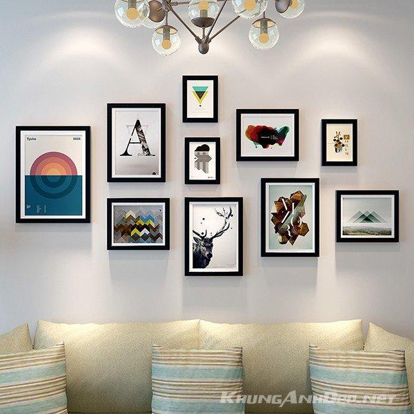 Bộ 10 khung ảnh treo tường phòng khách KAD1003