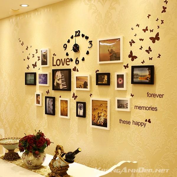 Bộ 15 khung ảnh treo tường phòng cưới KAD1501