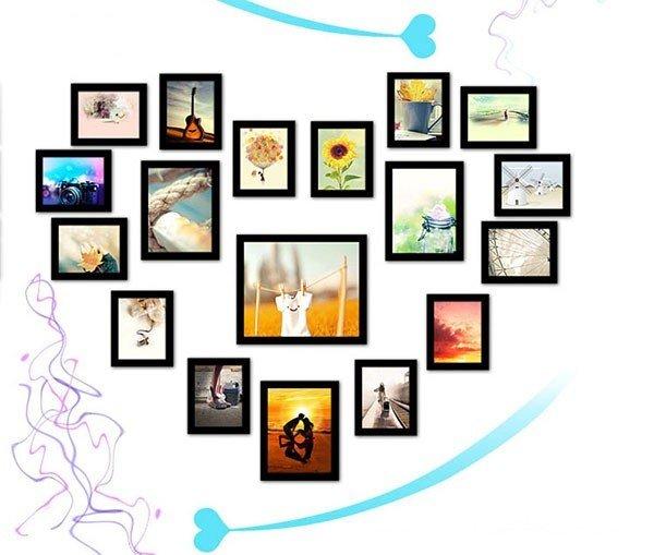 Lưu giữ lại những phút giây hạnh phúc của bạn với bộ 18 khung ảnh treo tường