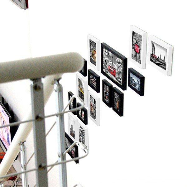 Bộ 16 khung ảnh treo tường cầu thang hiện đại
