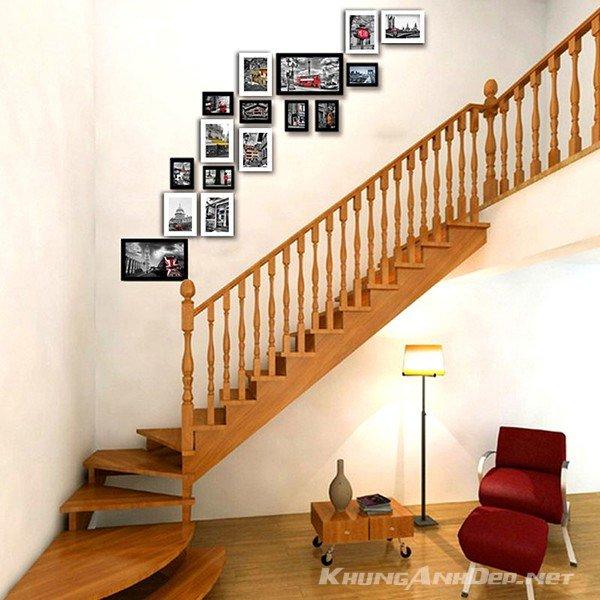 Kết hợp với cầu thang gỗ