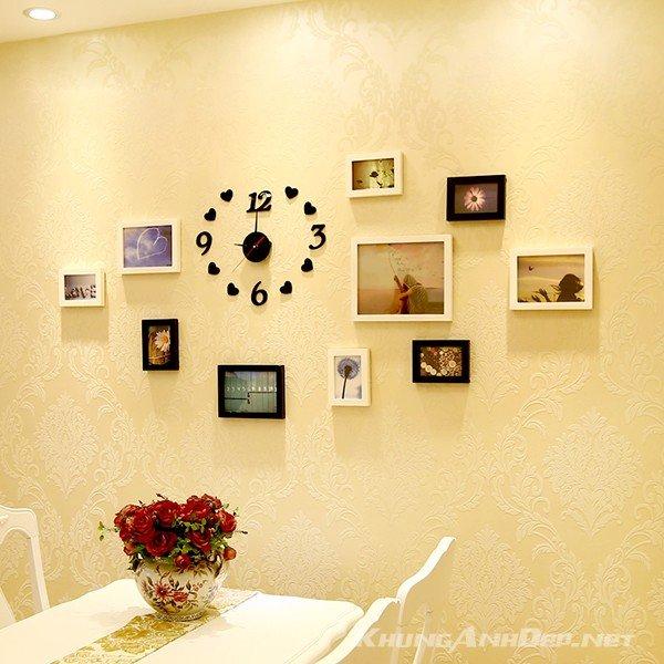 Bố trí theo phương pháp phá cách với đồng hồ dán tường không ồn