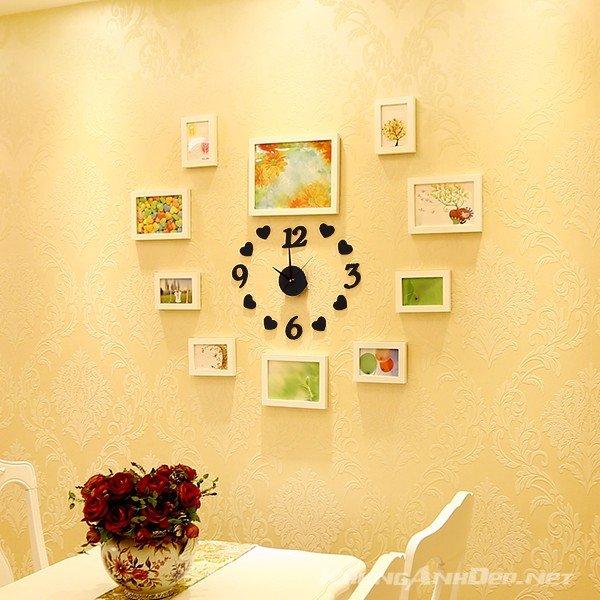 Bộ 10 khung ảnh hình trái tim toàn khung trắng - mang lại sự sang trọng cho bức tường