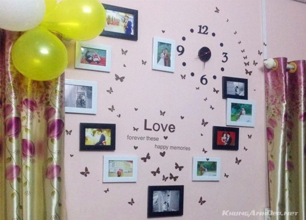 Còn gì tuyệt vời hơn khi căn phòng tình yêu của hai bạn tràn ngập những hình ảnh hạnh phúc này