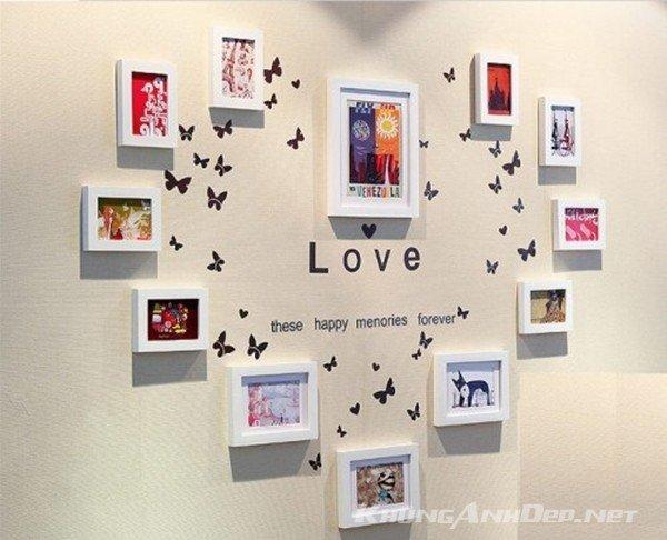 Bố trí hình trái tim lãng mạn