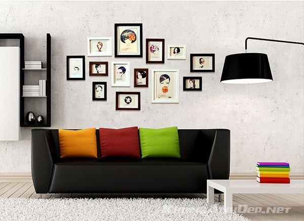 Bộ 13 khung ảnh phù hợp với trang trí không gian phòng khách hiện đại