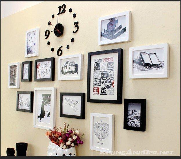 Bộ 13 khung ảnh treo tường quán Cafe KAD1303