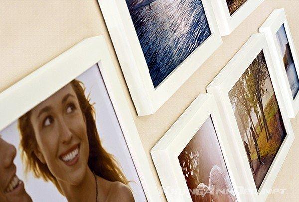 Cận cảnh bộ 6 khung ảnh treo tường phòng khách KAD603