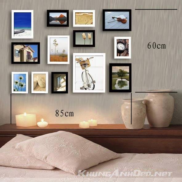 Bộ 13 khung ảnh treo tường phòng ngủ KAD1305
