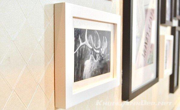 Cận cảnh khung ảnh trong bộ 15 khung ảnh treo tường phòng khách, quán Cafe KAD1503