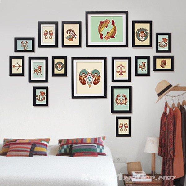 Bộ 16 khung ảnh treo tường phòng ngủ KAD1601
