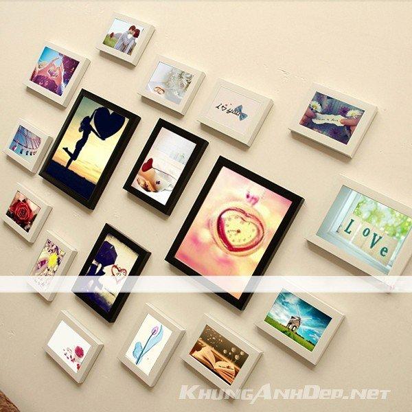 Bộ 17 khung ảnh treo tường hình trái tim KAD1701 sẽ là nơi lưu giữ lại những phút giây hạnh phúc nhất của gia đình bạn