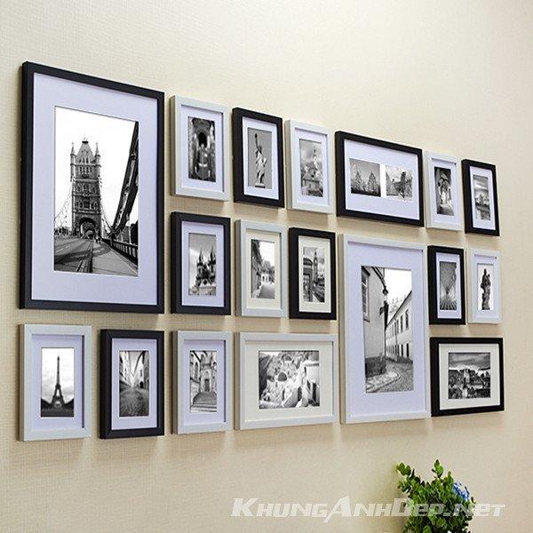 Không gian phòng khách Chung cư hoặc quán Cafe sẽ thật ấn tượng với bộ 18 khung ảnh KAD1804