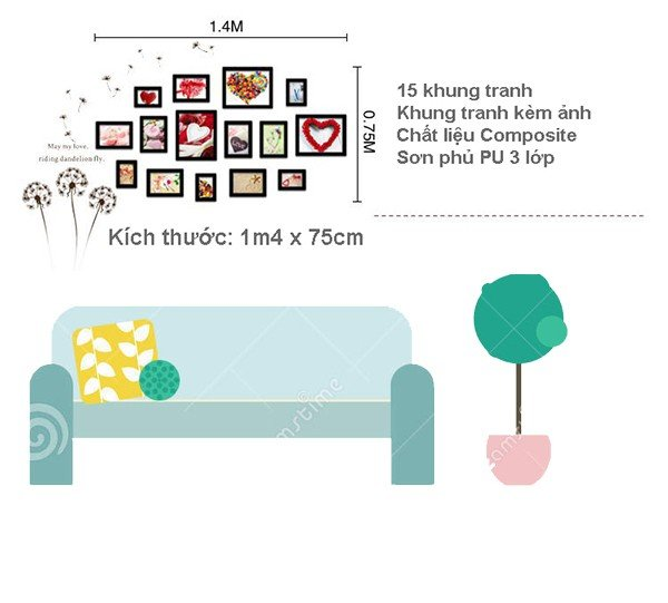 Phù hợp với những mảng tường không quá lớn trong phòng ngủ
