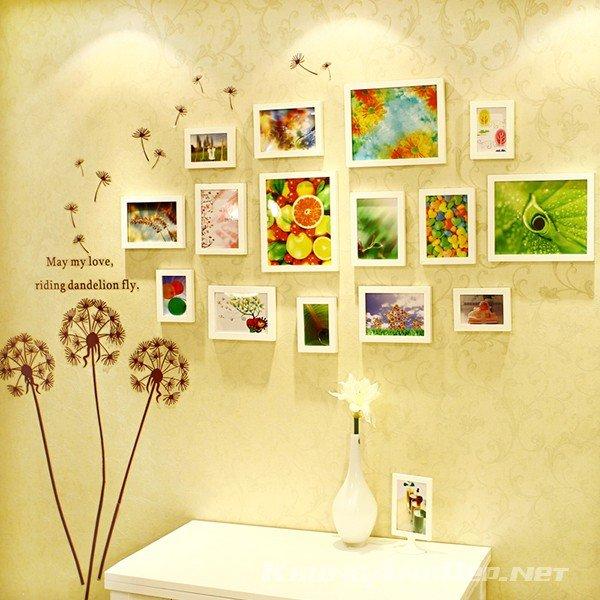 Bộ 15 khung ảnh treo tường phòng ngủ ấn tượng KAD1505