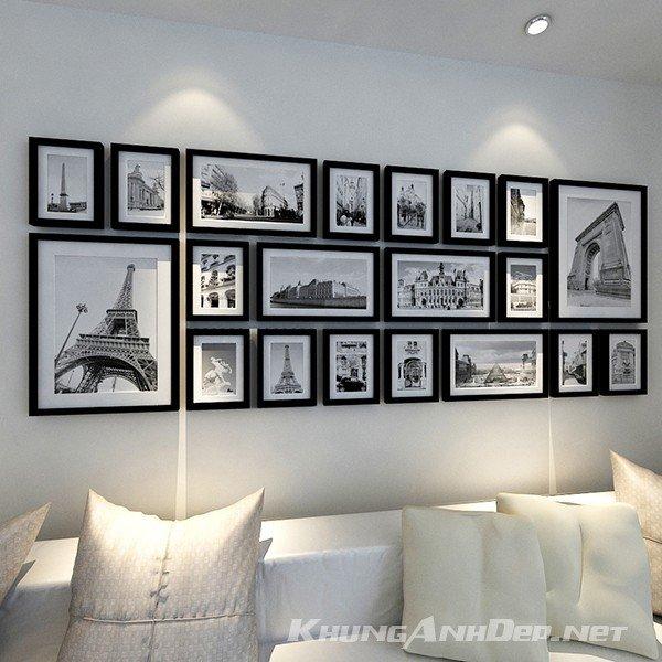 Bộ 20 khung ảnh treo tường phòng khách hiện đại KAD2003