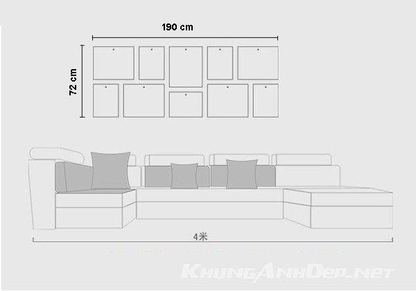 Sơ đồ bố trí của bộ khung ảnh treo tường KAD1007
