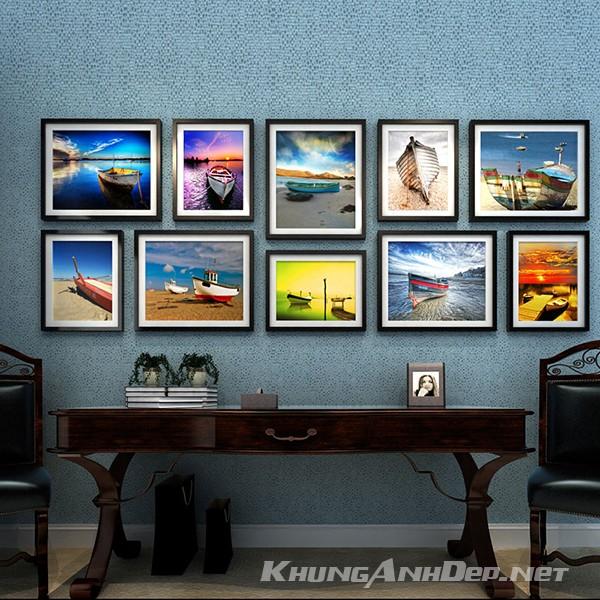 Bộ khung ảnh treo tường phòng khách, quán Cafe 10 khung KAD1007