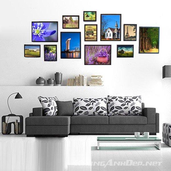 Bộ khung ảnh treo tường phòng khách, phòng ăn 12 khung KAD1207