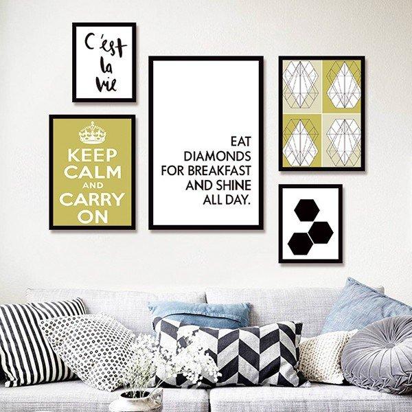 Bộ khung ảnh treo tường phòng khách, Văn phòng KAD501