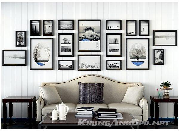 Bộ 18 khung ảnh treo tường phòng khách rộng KAD1805