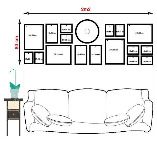 Sơ đồ bố trí bộ khung ảnh treo tường KAD1702