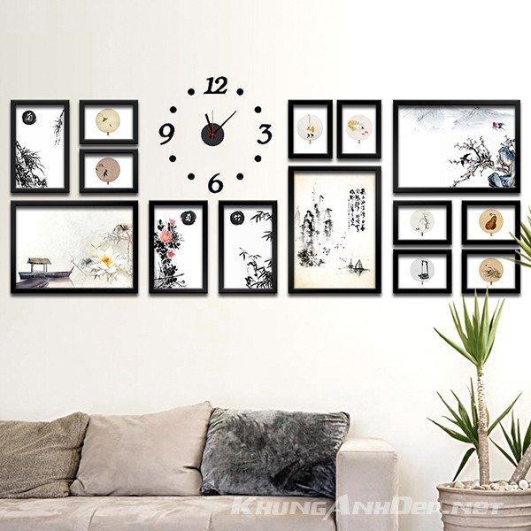 Bộ khung ảnh treo tường phòng khách, Văn phòng KAD1702